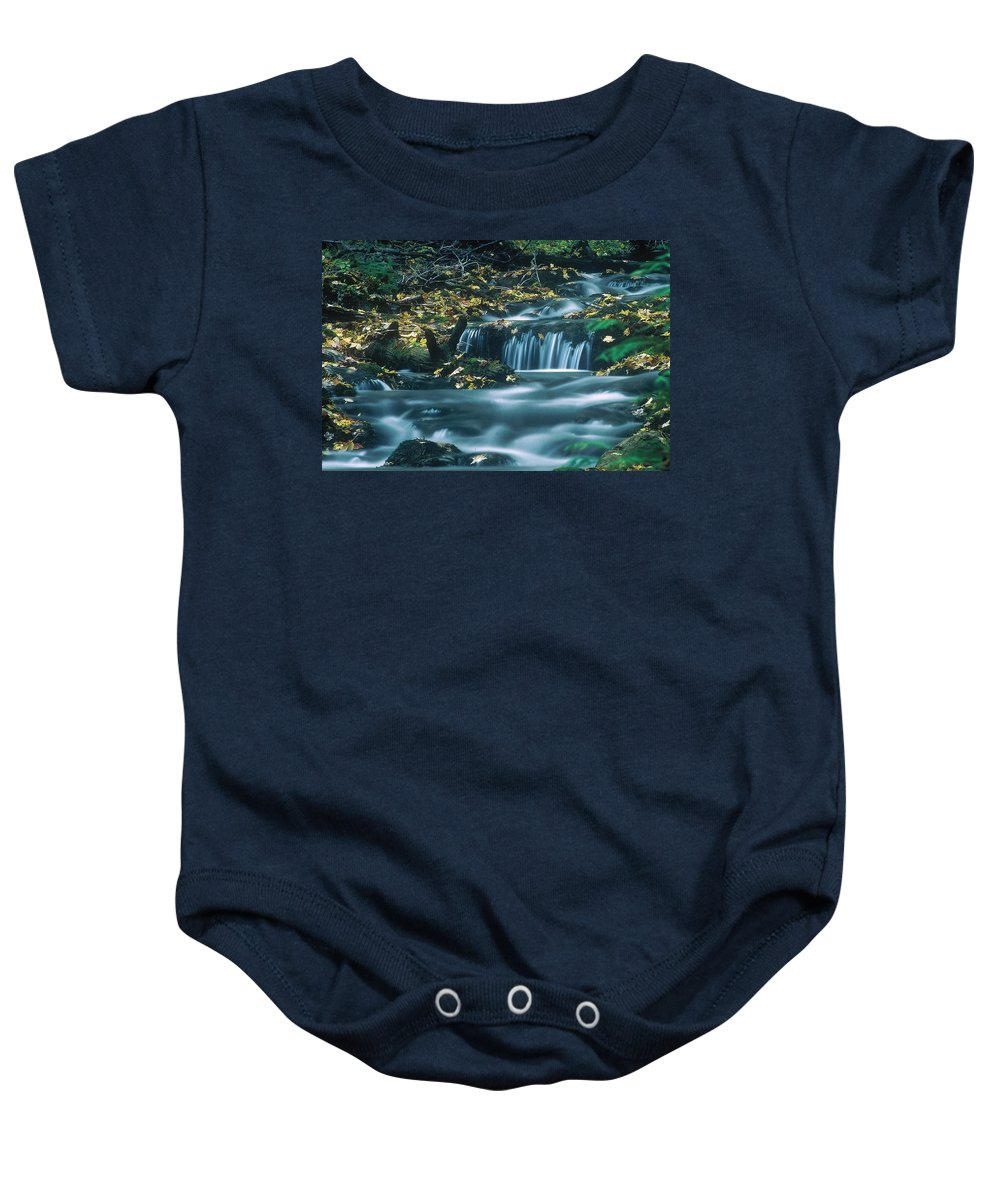 Creek Baby Onesie featuring the photograph Silver Creek by D'Arcy Evans