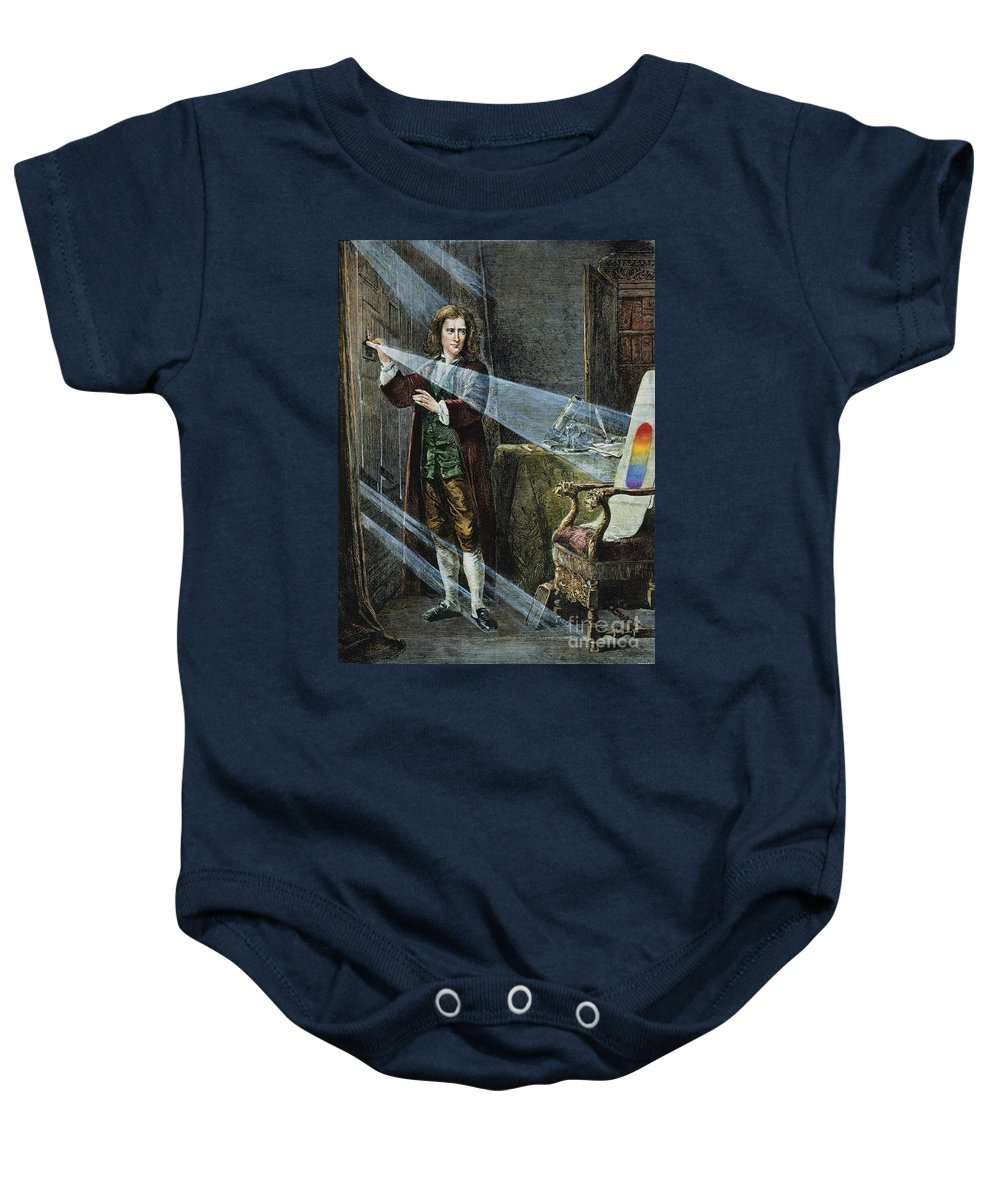 18th Century Baby Onesie featuring the photograph Sir Isaac Newton by Granger