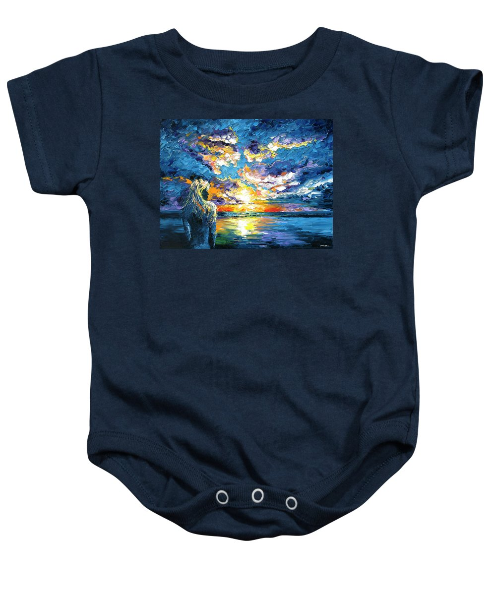 Sunset Baby Onesie featuring the painting Siren's Dream by Nelson Ruger