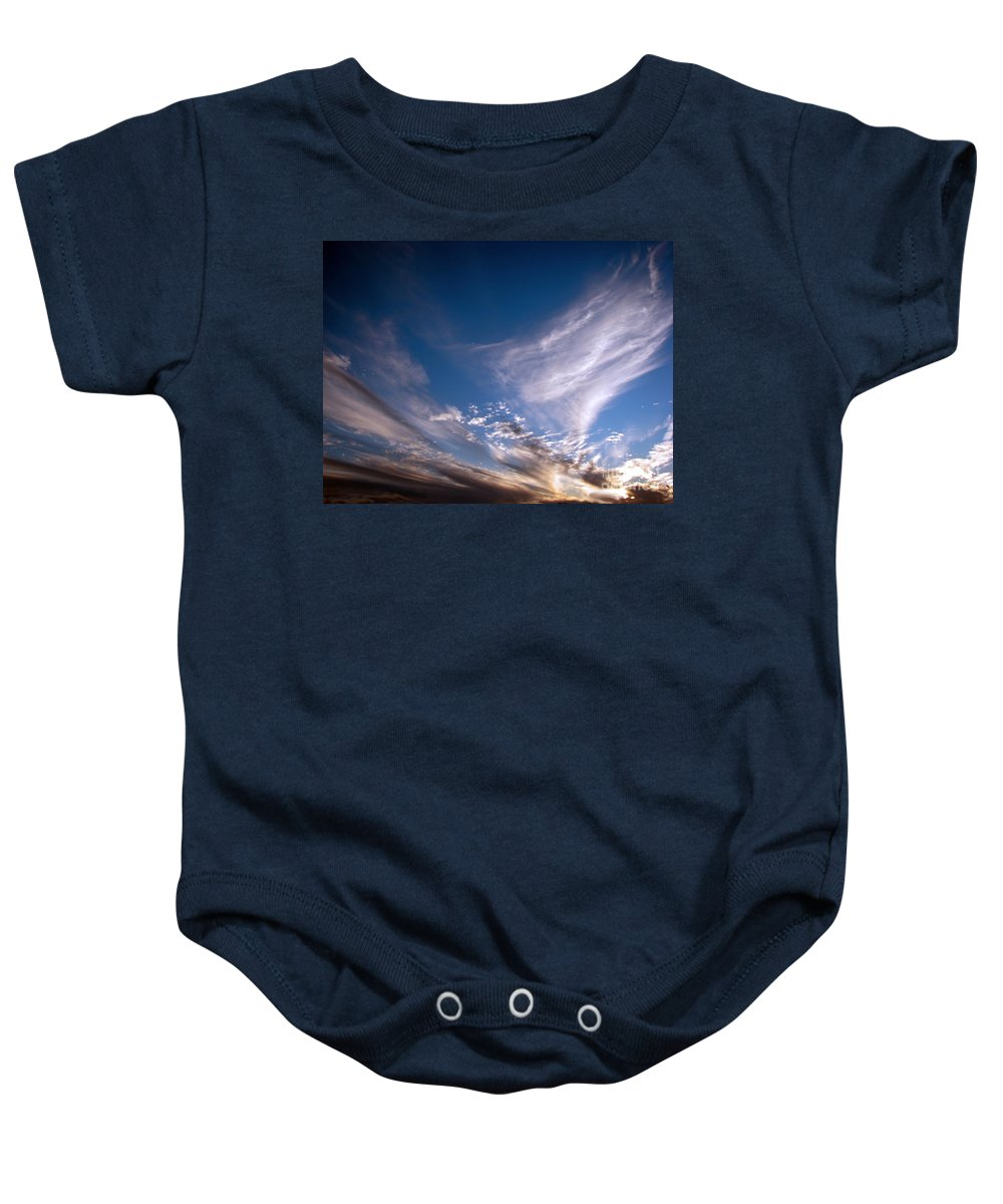 Skies Baby Onesie featuring the photograph Sky by Amanda Barcon