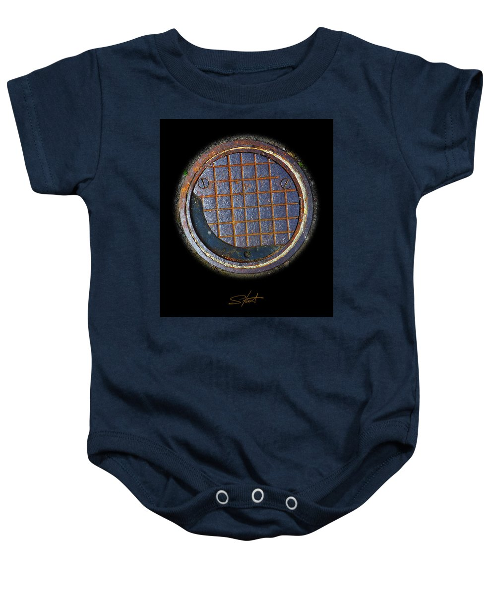 Smiley Baby Onesie featuring the photograph Smiley Face by Charles Stuart