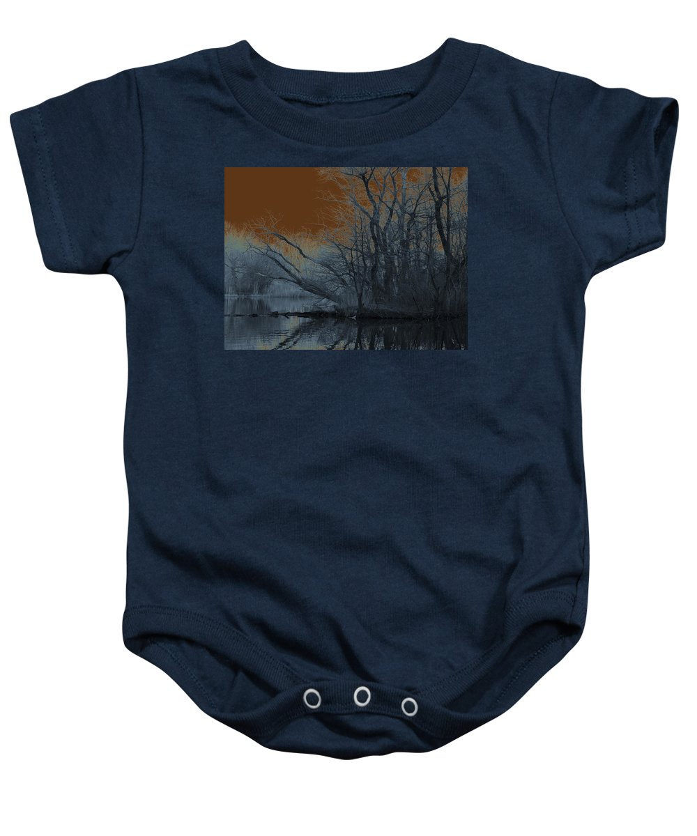Solarization Baby Onesie featuring the photograph Solarization by Kendall Eutemey