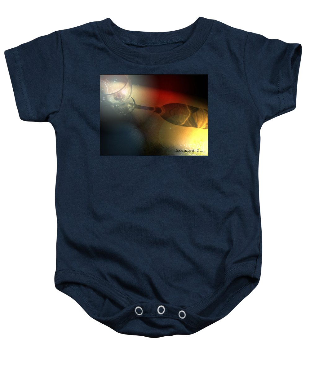 Fantasy Baby Onesie featuring the photograph Solitude A Deux by Miki De Goodaboom
