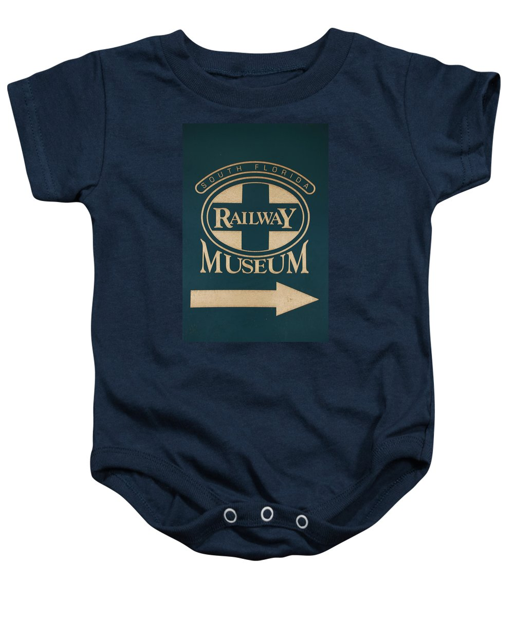 South Florida Railway Museum Baby Onesie featuring the photograph South Florida Railway Museum by Rob Hans