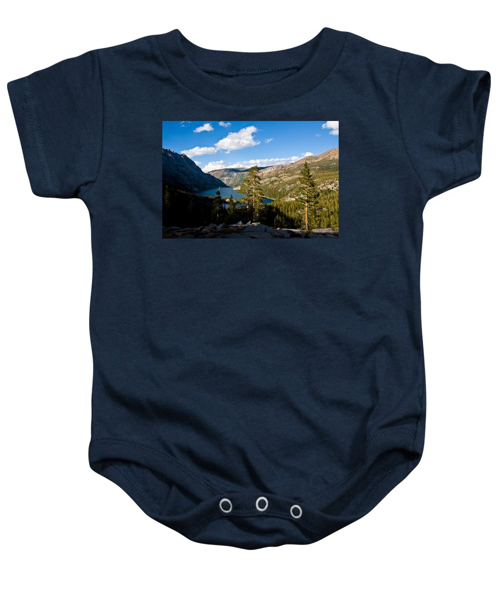 South Lake From Above Baby Onesie featuring the photograph South Lake From Above by Chris Brannen