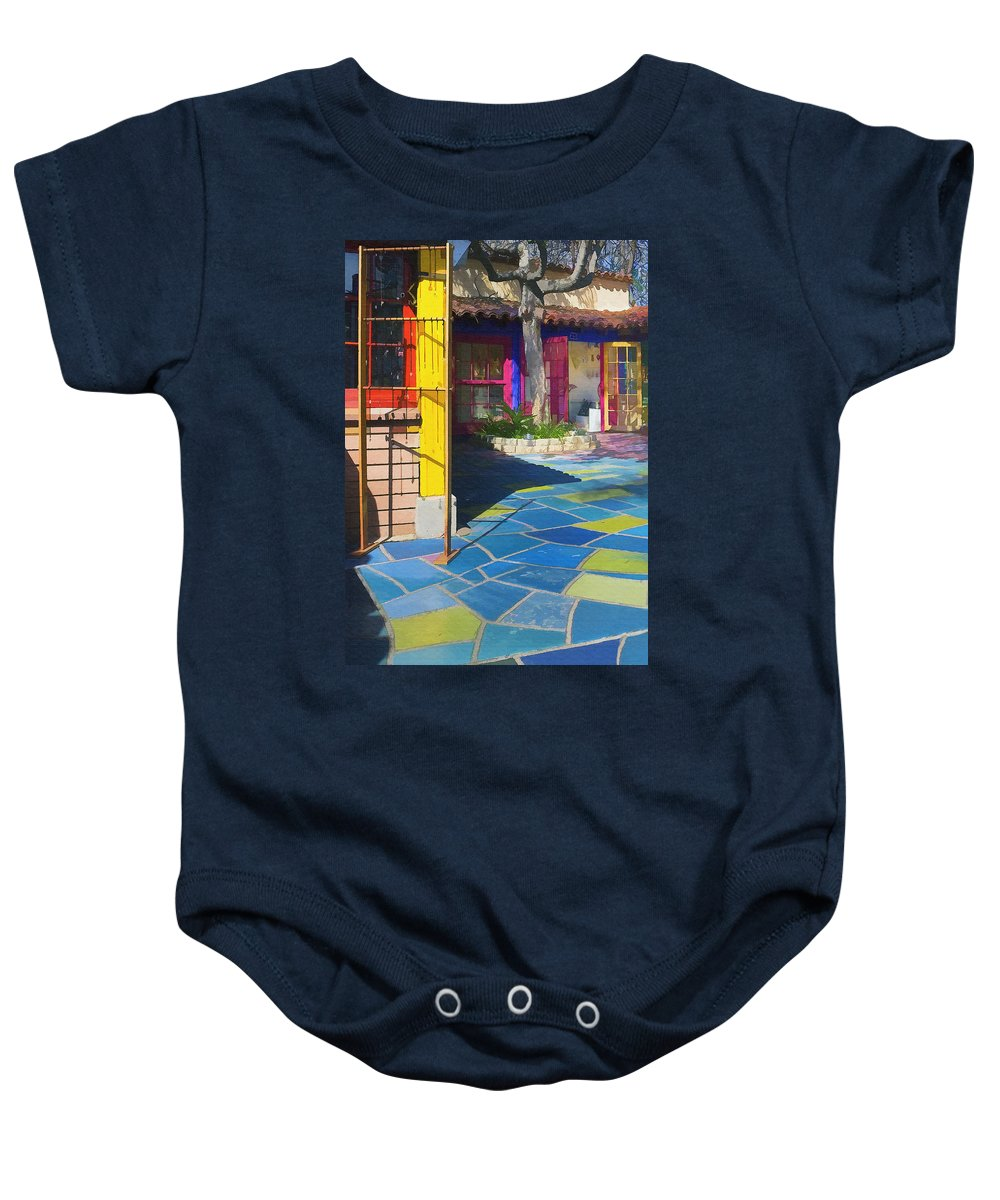 Architecure Baby Onesie featuring the photograph Spanish Village by Sharon Foster