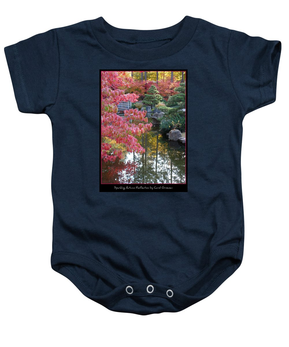 Fall Baby Onesie featuring the photograph Sparkling Autumn Reflection by Carol Groenen