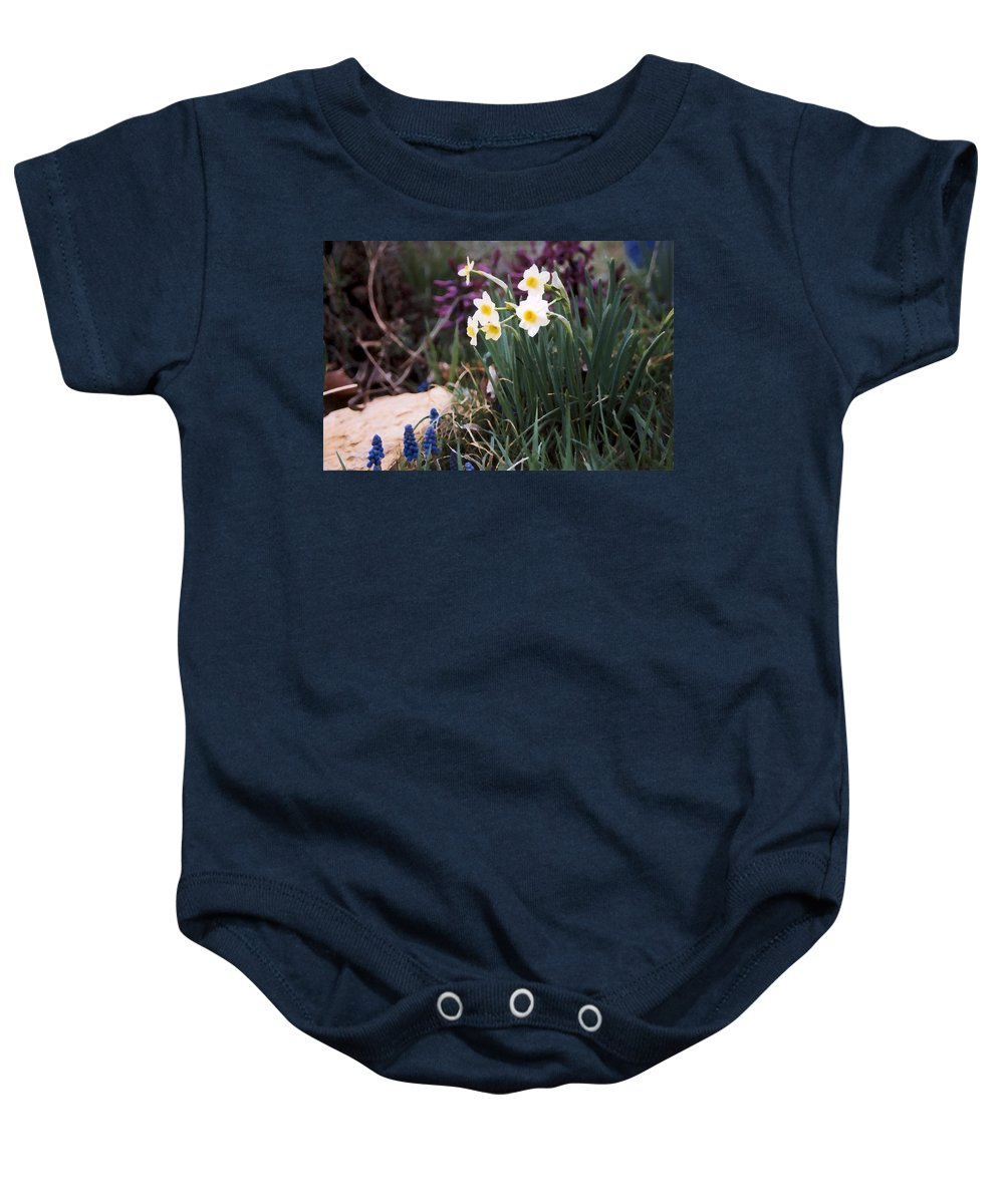 Flowers Baby Onesie featuring the photograph Spring Garden by Steve Karol