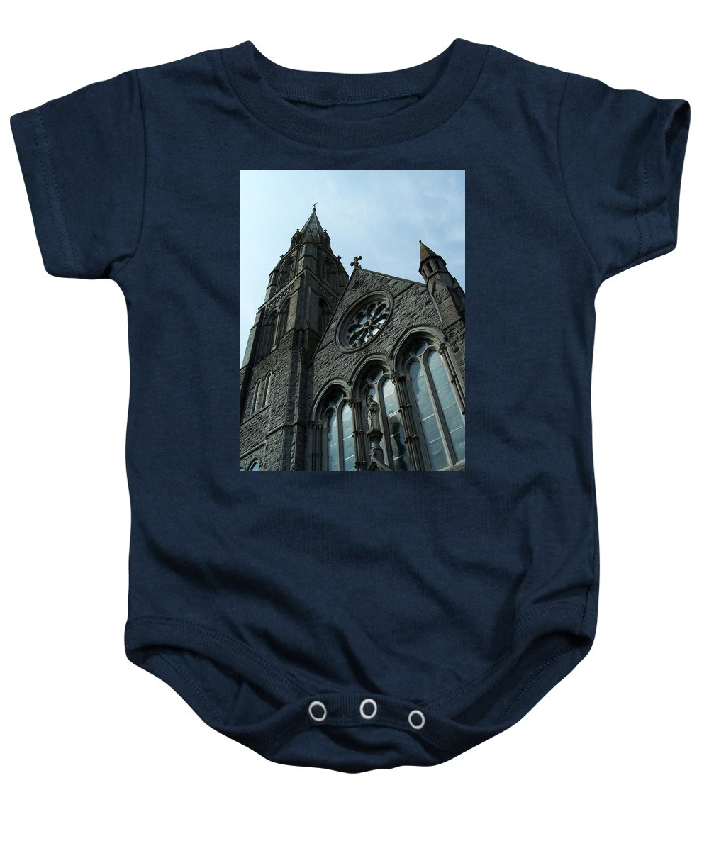 Ireland Baby Onesie featuring the photograph St. Mary's Of The Rosary Catholic Church by Teresa Mucha