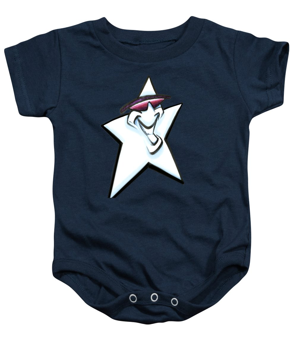 Star Baby Onesie featuring the digital art Star by Kevin Middleton
