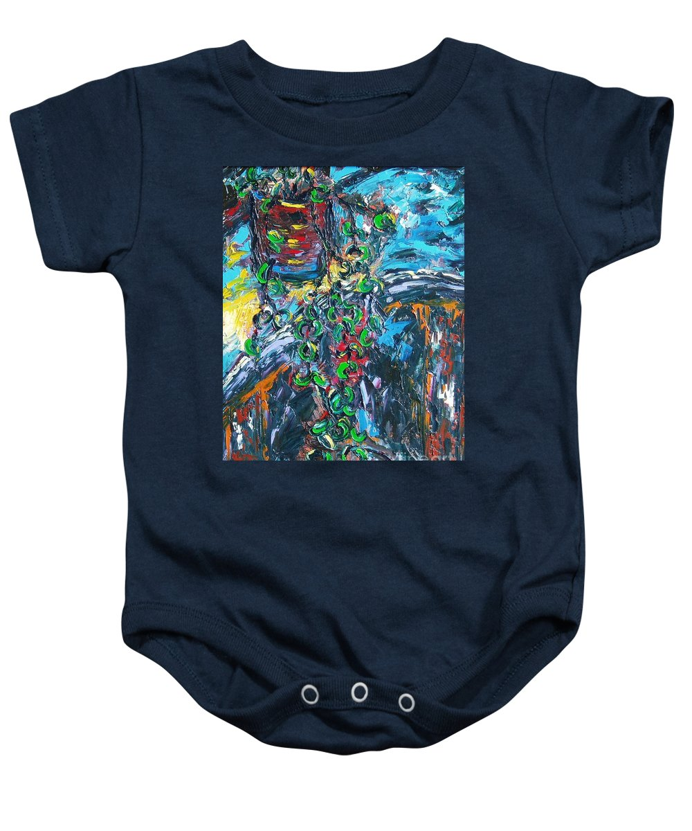 Abstract Paintings Baby Onesie featuring the painting Still Life by Seon-Jeong Kim