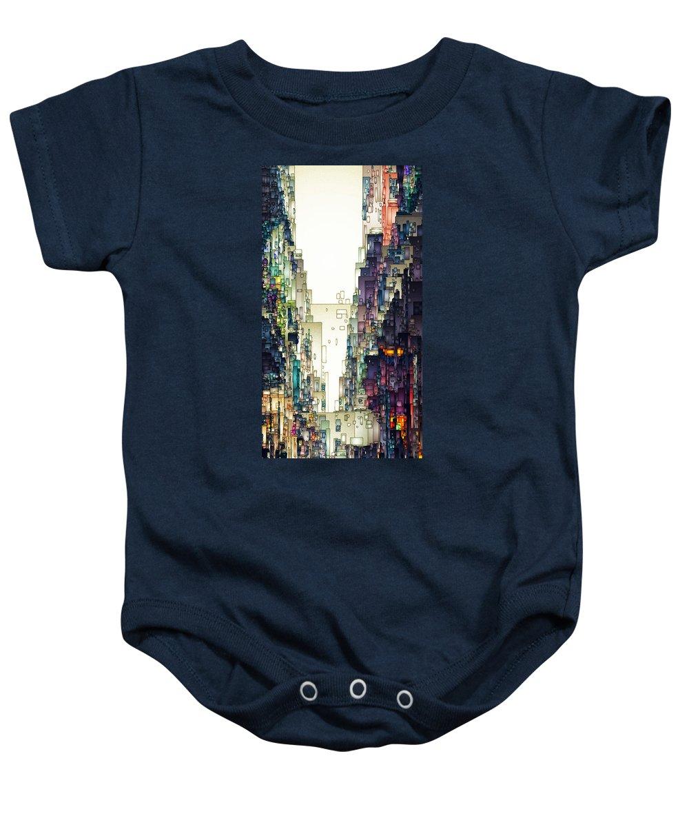 Digital Baby Onesie featuring the digital art Streetscape 1 by David Hansen