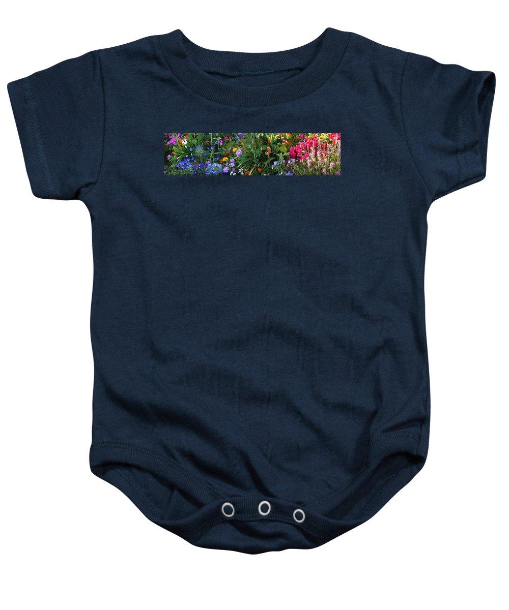 Summer Baby Onesie featuring the photograph Summer Garden 2 by Marilyn Hunt
