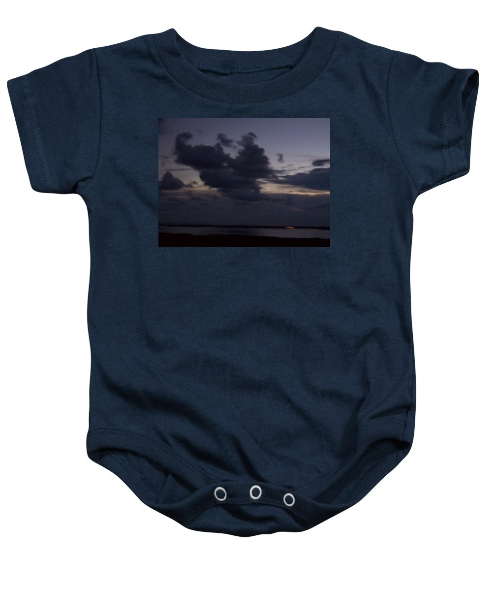 Sunset Over Estero Baby Onesie featuring the photograph Sunset 0005 by Laurie Paci