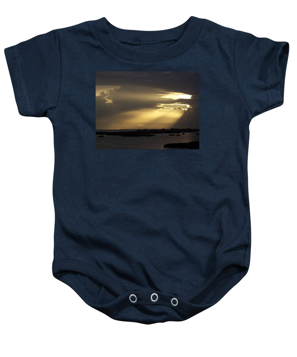 Sunset Over Estero Baby Onesie featuring the photograph Sunset 0006 by Laurie Paci
