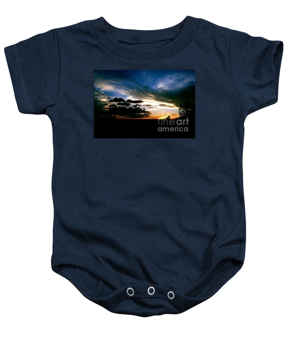 Sunset Baby Onesie featuring the photograph Sunset at the North Rim by Kathy McClure