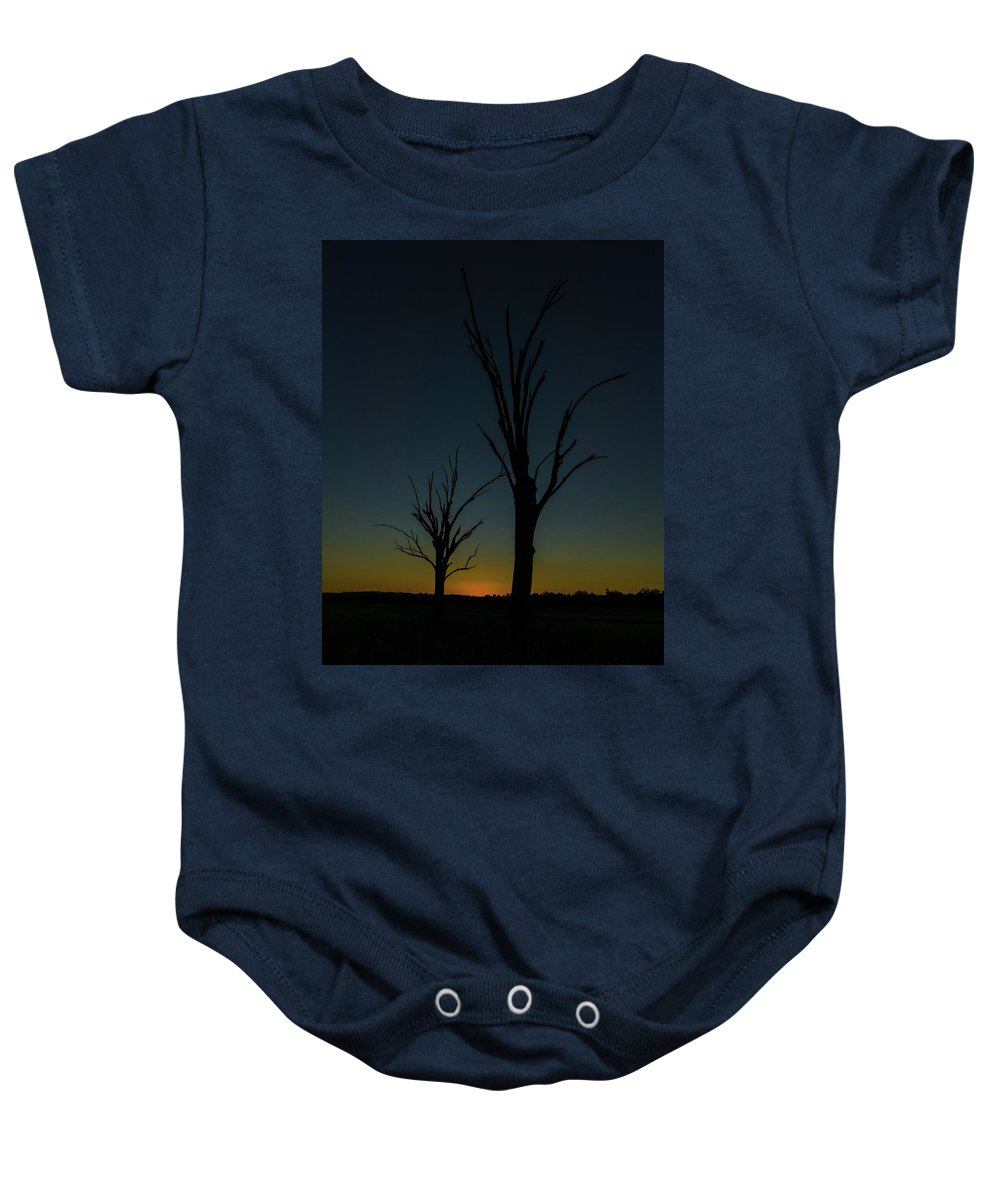 Sunset Baby Onesie featuring the photograph Sunsette Silhouette by Graeme Mell