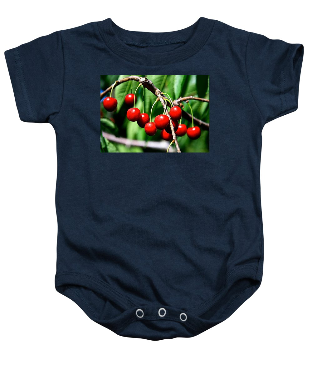 Cherry Baby Onesie featuring the photograph Sweet Cherry Pie by Robert Pearson