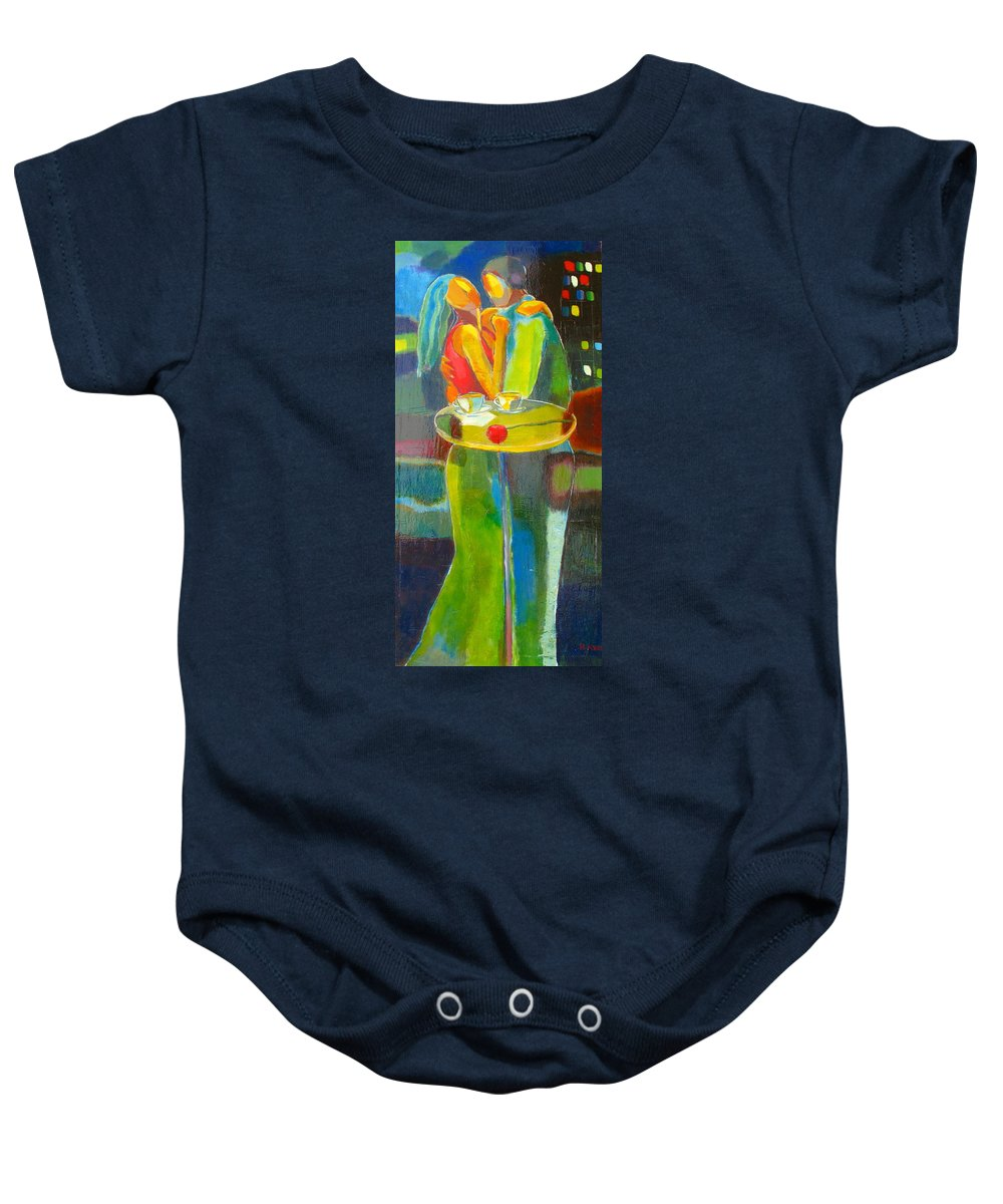 Love Baby Onesie featuring the painting Sweet Moment by Habib Ayat