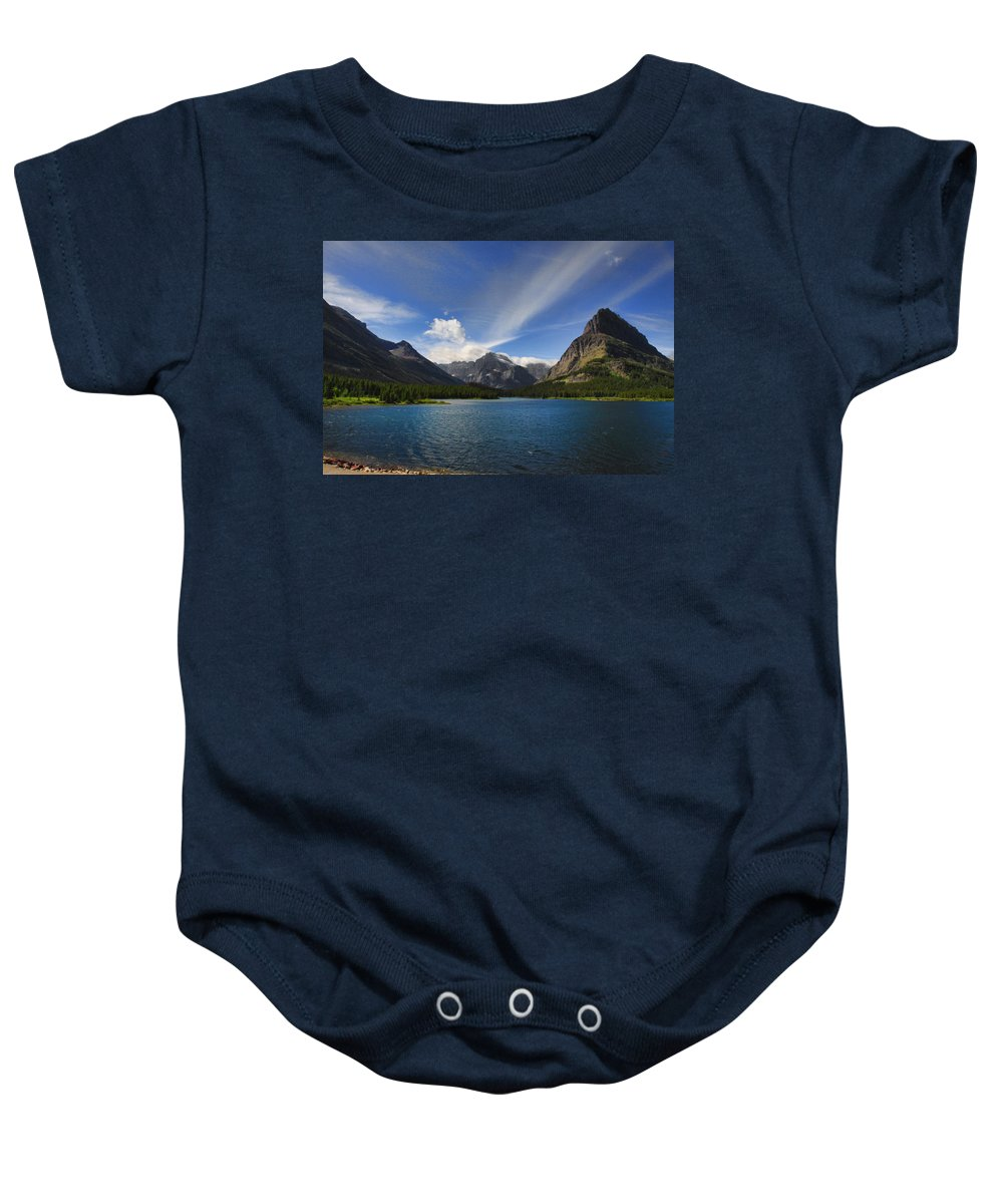 Mountains Baby Onesie featuring the photograph Swiftcurrent Lake - Glacier Np by Shari Jardina