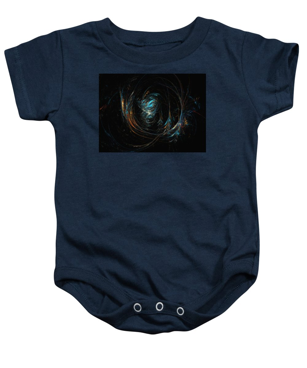 Abstract Digital Painting Baby Onesie featuring the digital art Synapse by David Lane