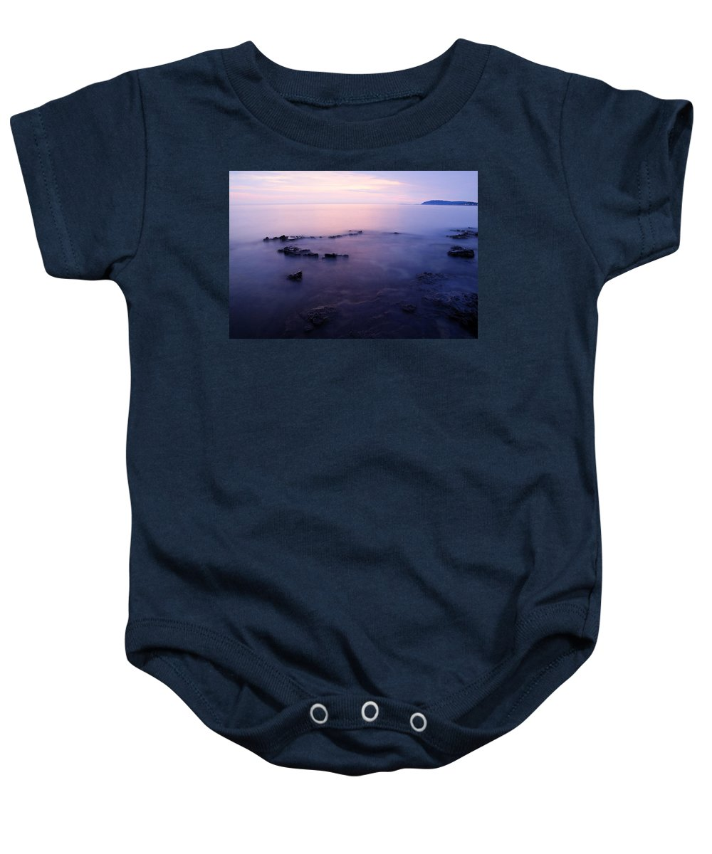 Sea Baby Onesie featuring the photograph The Beautiful Istrian Coastline by Ian Middleton
