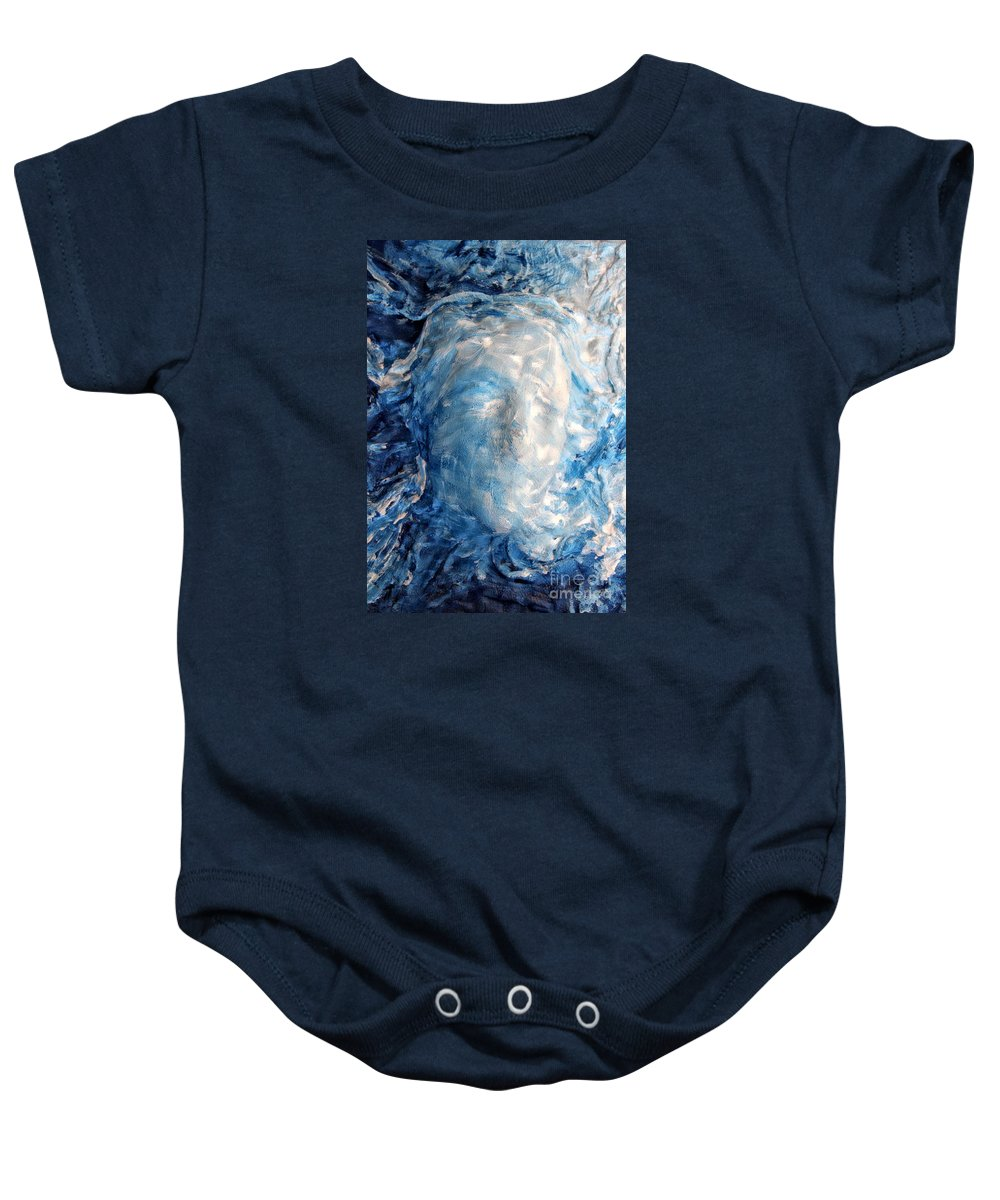 Bas-relief Baby Onesie featuring the painting The Birth Of Venere by Katrin Sedda