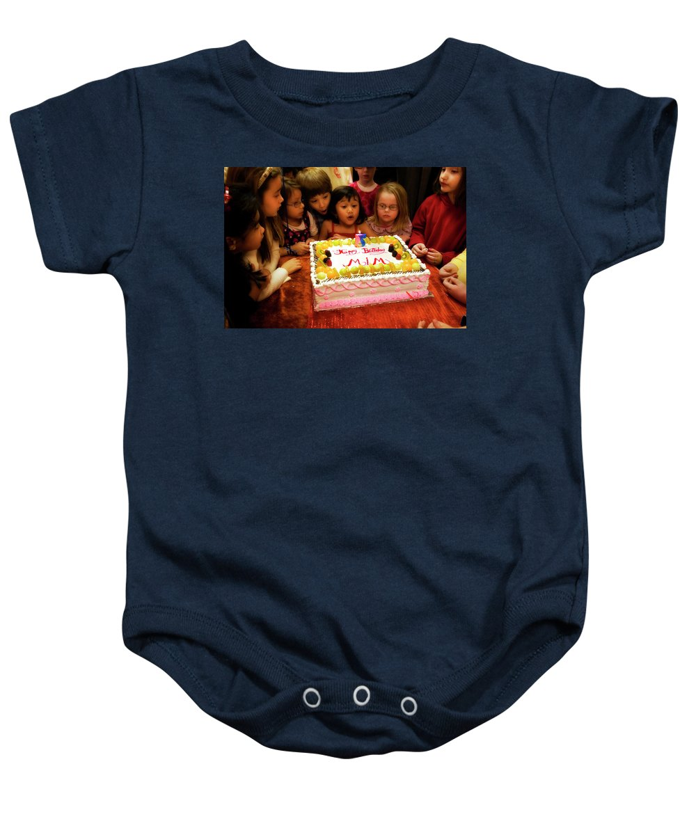 Birthday Baby Onesie featuring the photograph The Blowout Brigade by Madeline Ellis