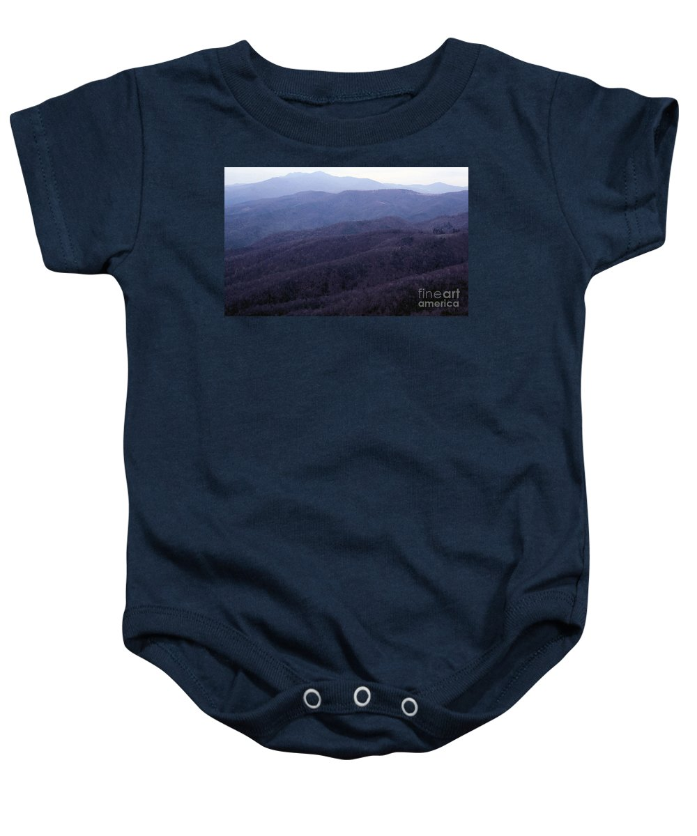 Mountains Baby Onesie featuring the photograph The Blue Ridge by Richard Rizzo