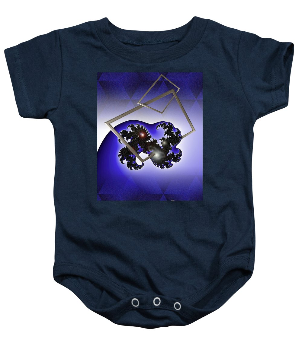 Digital Baby Onesie featuring the photograph The Blue Wave by Doug Gibbons