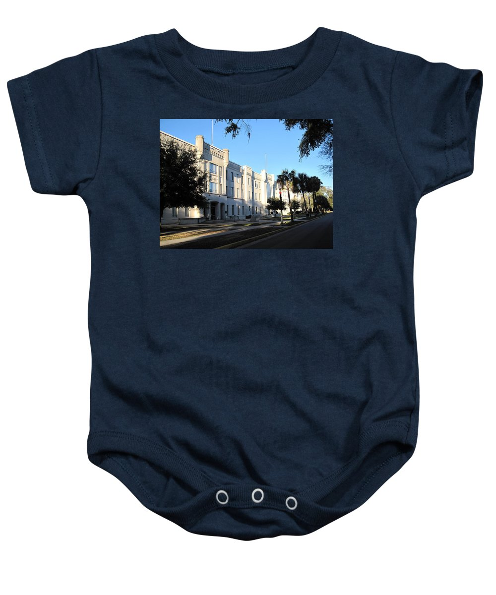 Photography Baby Onesie featuring the photograph The Citadel In Charleston IIi by Susanne Van Hulst
