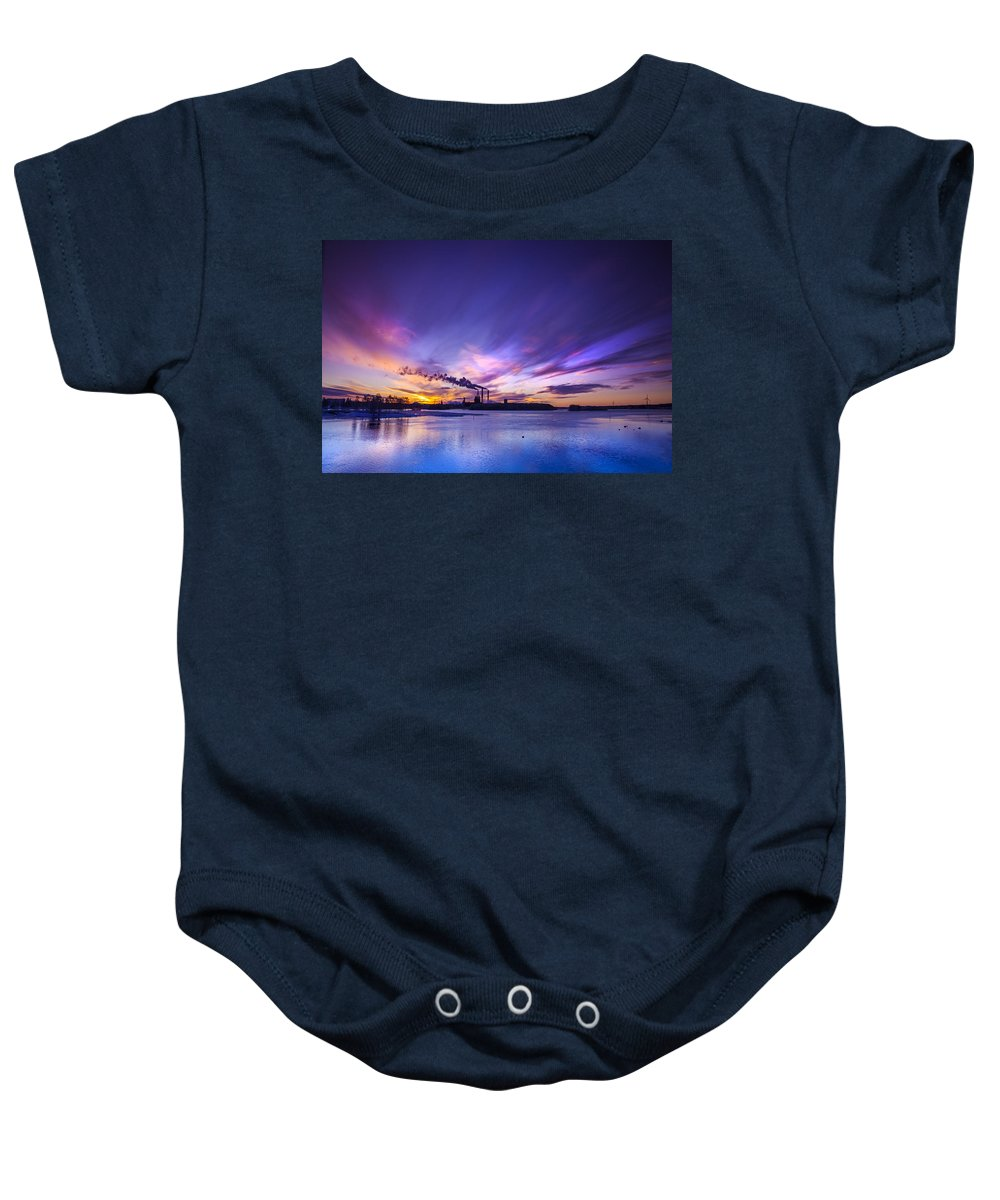 Beautiful Baby Onesie featuring the photograph The Cloud Factory 2 by Sandra Rugina