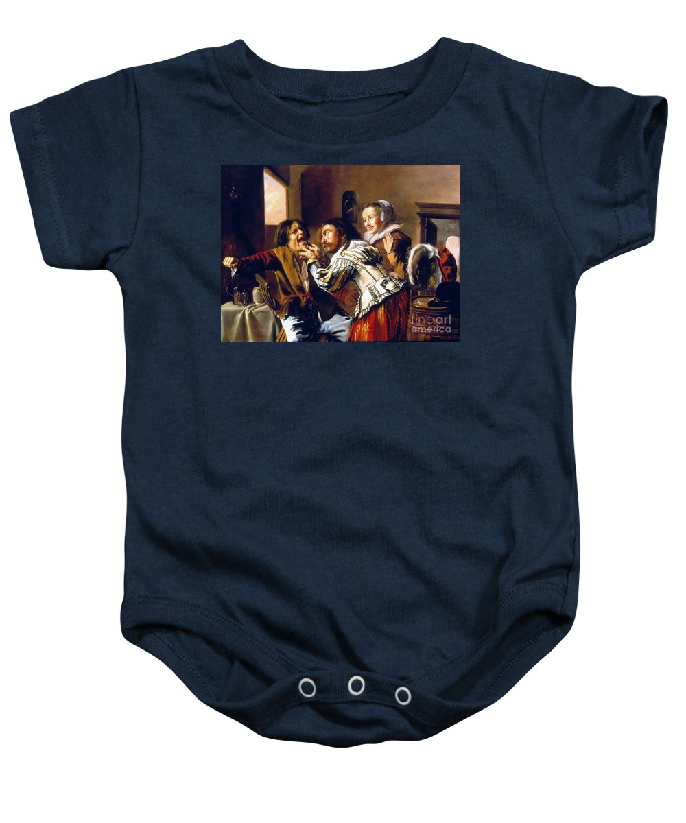 1629 Baby Onesie featuring the photograph The Dentist, 1629 by Granger
