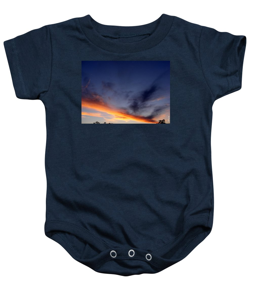 The Dividing Line Baby Onesie featuring the photograph The Dividing Line by Ed Smith