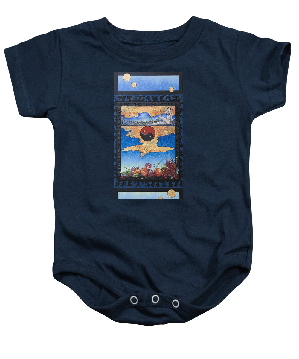 Karma Baby Onesie featuring the painting The Dream by Judy Henninger