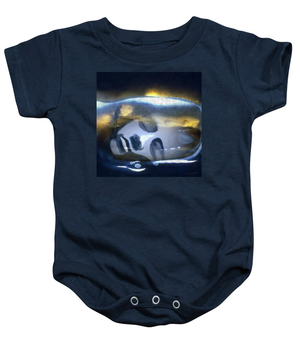Dream Sky Universe Methaphysics Aura Afterlife Baby Onesie featuring the digital art The Dream by Veronica Jackson