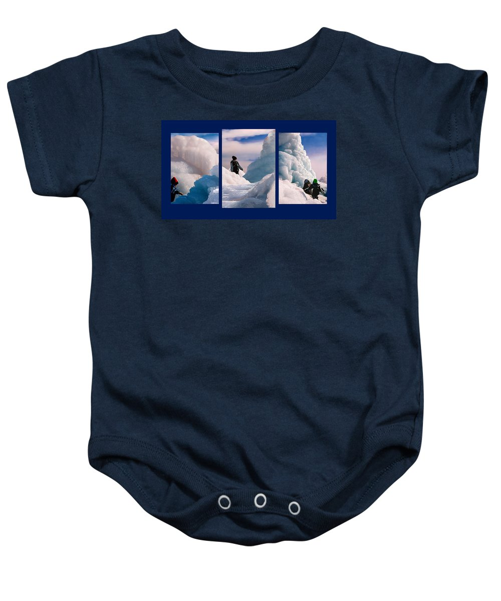 Landscape Baby Onesie featuring the photograph The Explorers by Steve Karol