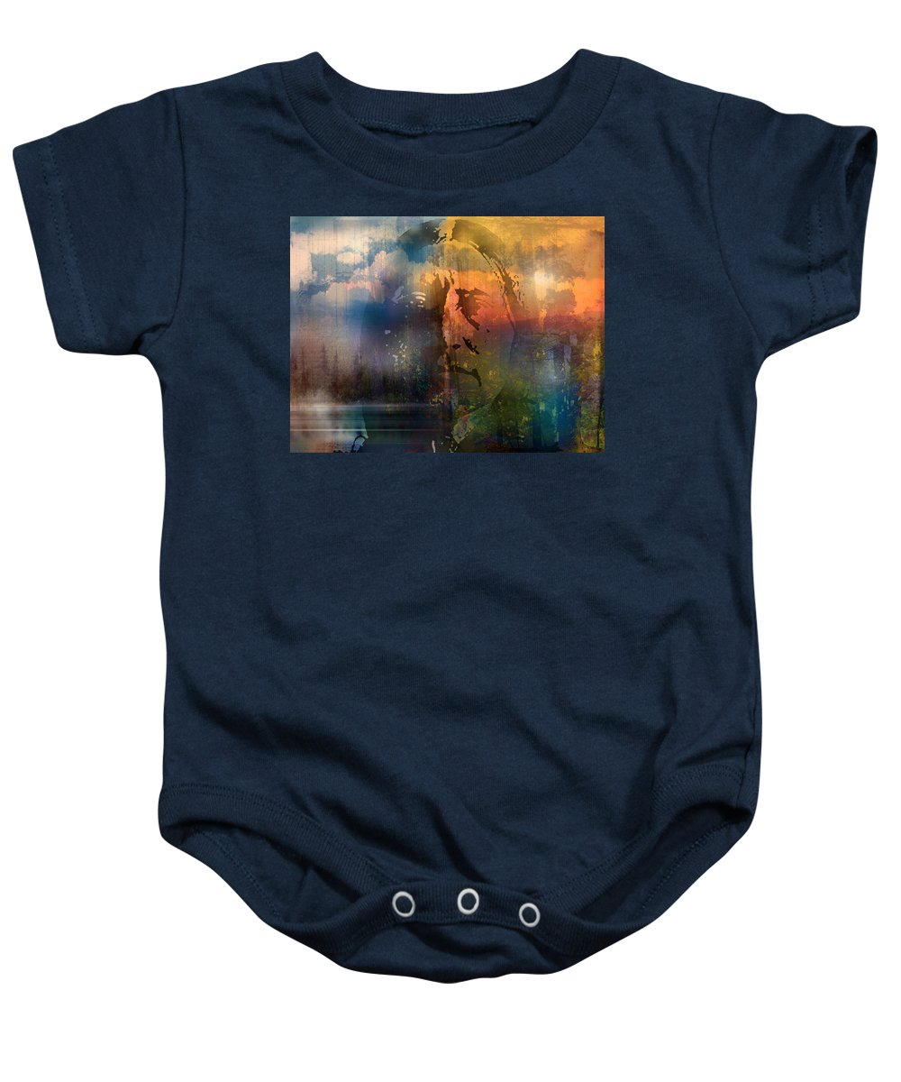 Native American Baby Onesie featuring the painting The Four Directions by Paul Sachtleben