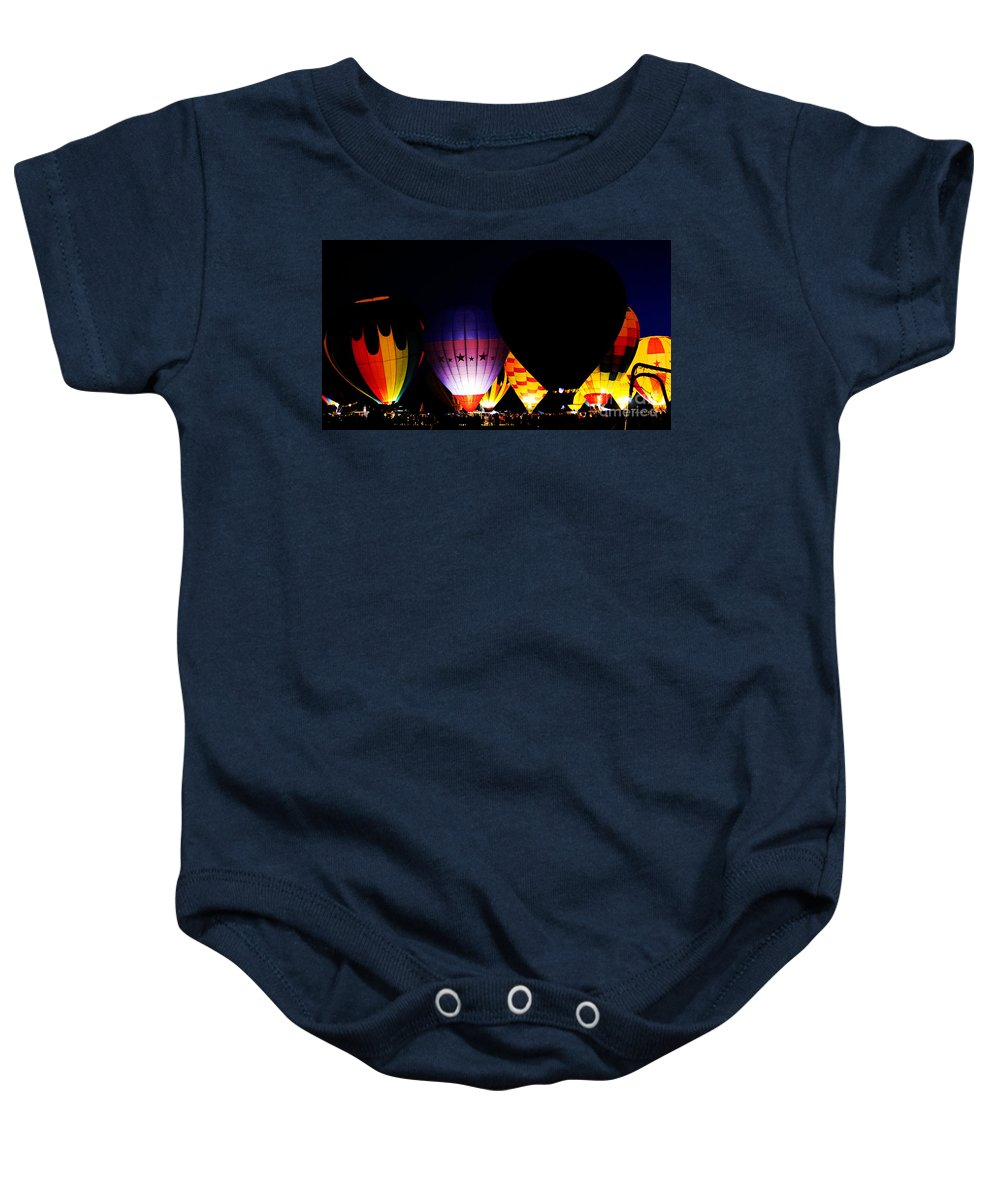 Clay Baby Onesie featuring the photograph The Glowing by Clayton Bruster