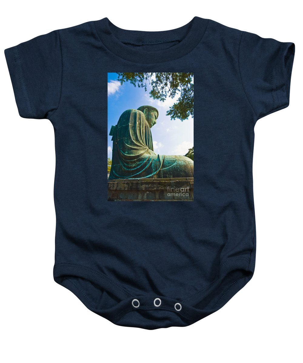 Asian Baby Onesie featuring the photograph The Great Buddha by Bill Brennan - Printscapes