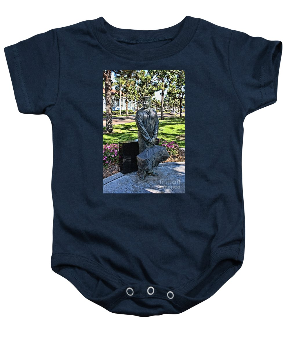 The Sailor Baby Onesie featuring the photograph The Sailor by Tommy Anderson