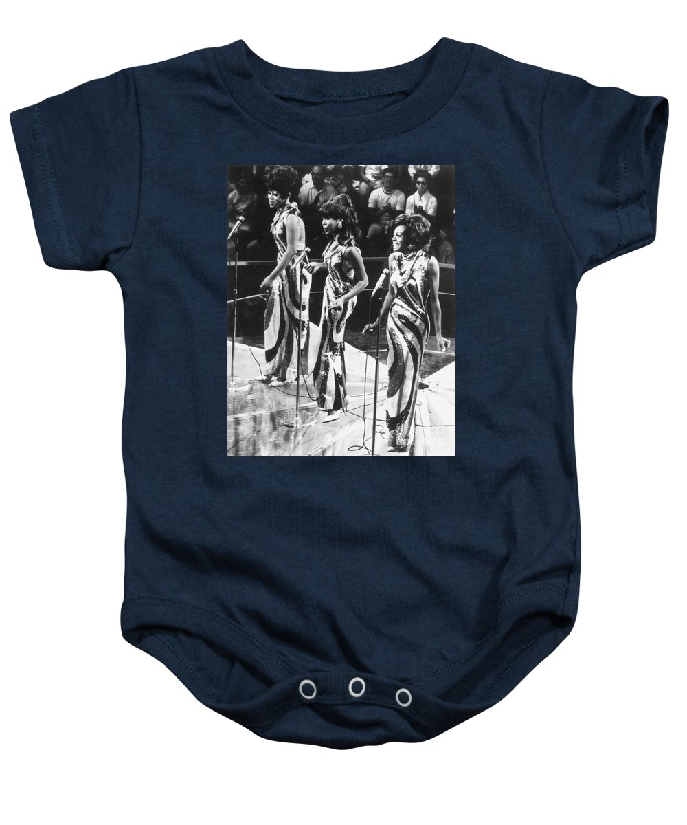 1963 Baby Onesie featuring the photograph The Supremes, C1963 by Granger