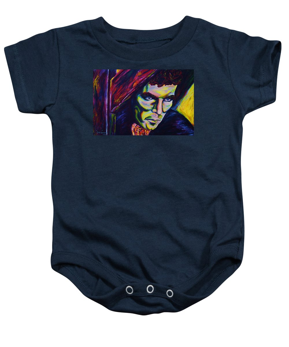 Portraits Baby Onesie featuring the painting The Vampire Lestat by Carole Spandau