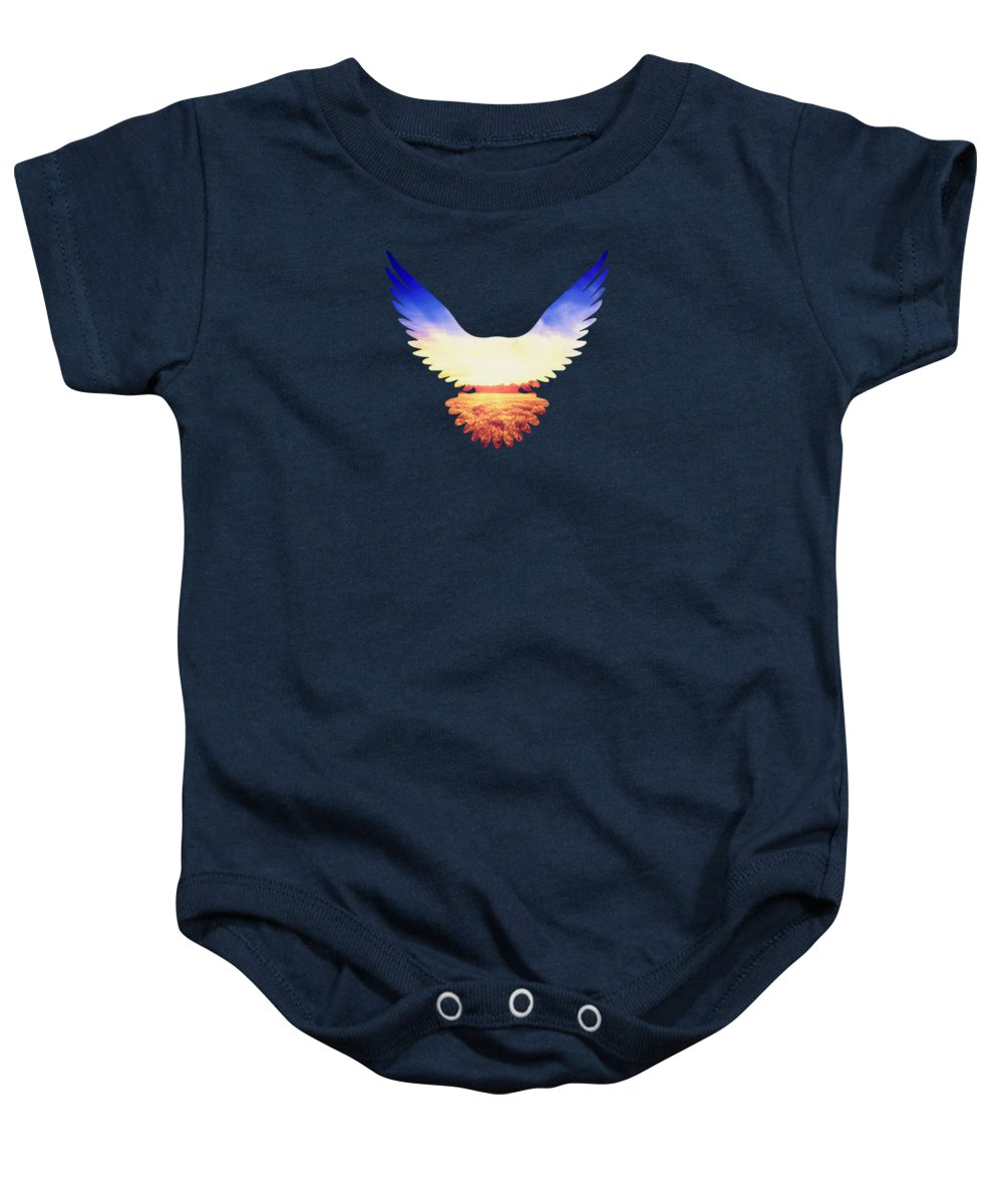 Eagle Baby Onesie featuring the photograph The Wild Wings by Philipp Rietz