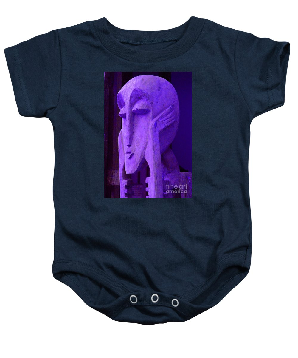 Head Baby Onesie featuring the photograph Think About It by Debbi Granruth