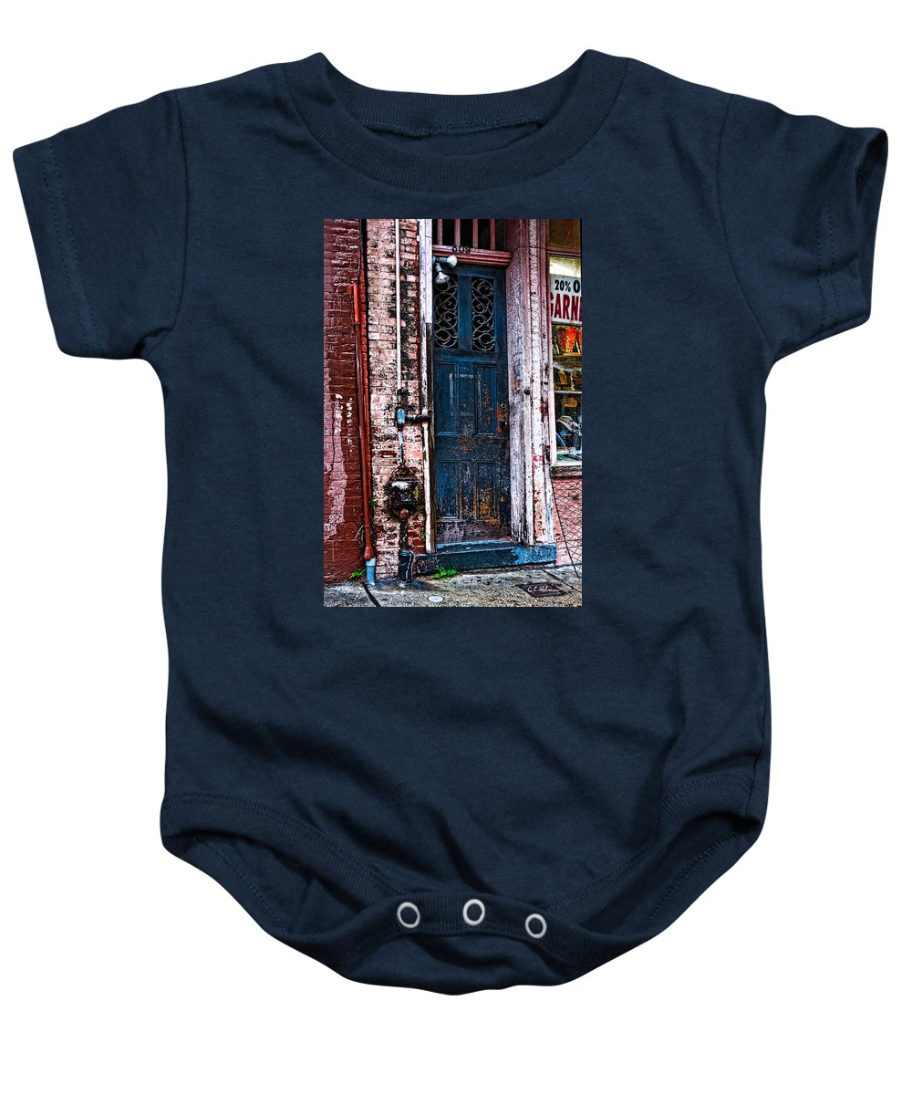 Door Baby Onesie featuring the photograph Time Tested by Christopher Holmes