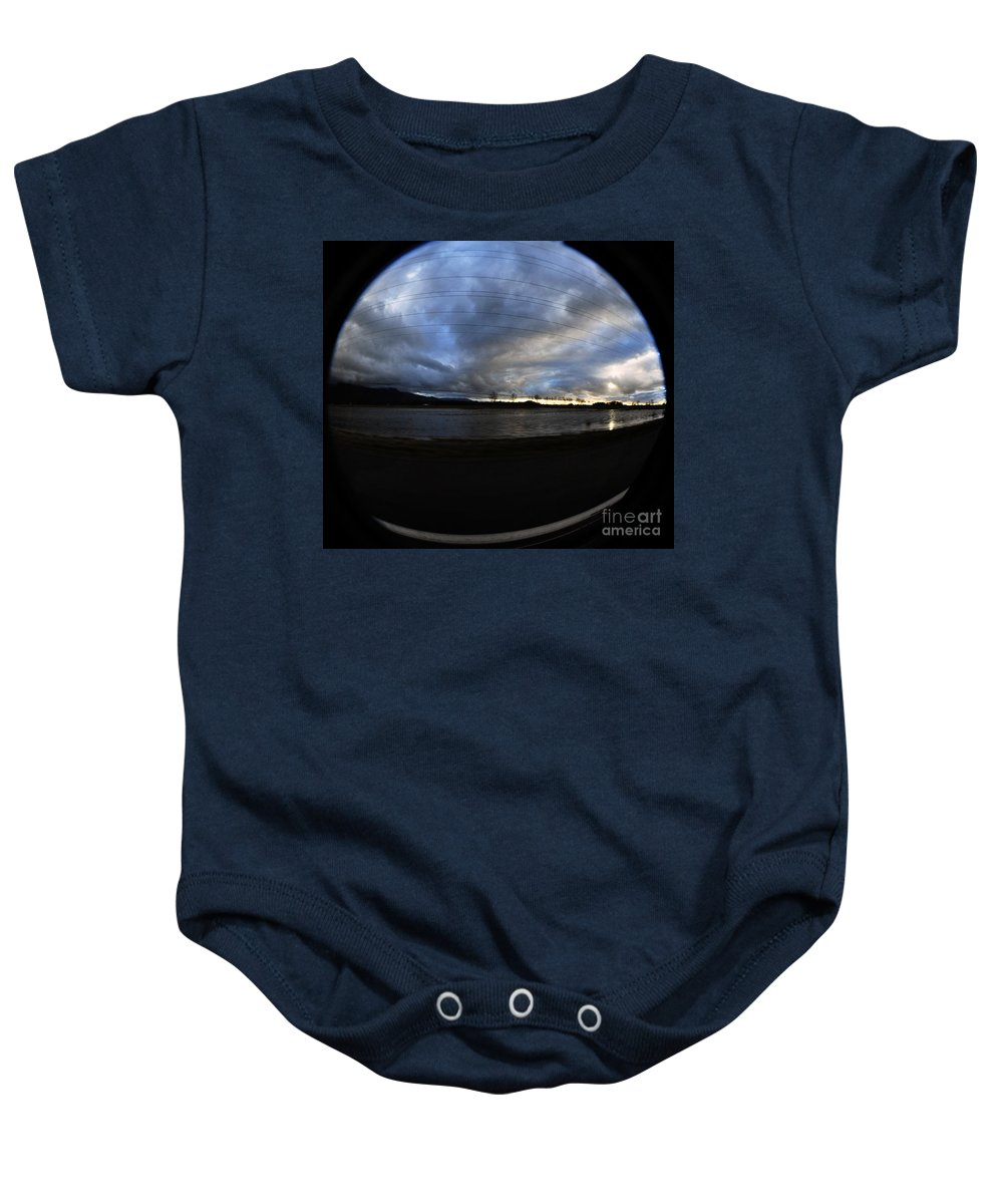 Clay Baby Onesie featuring the photograph Too Much Rain by Clayton Bruster