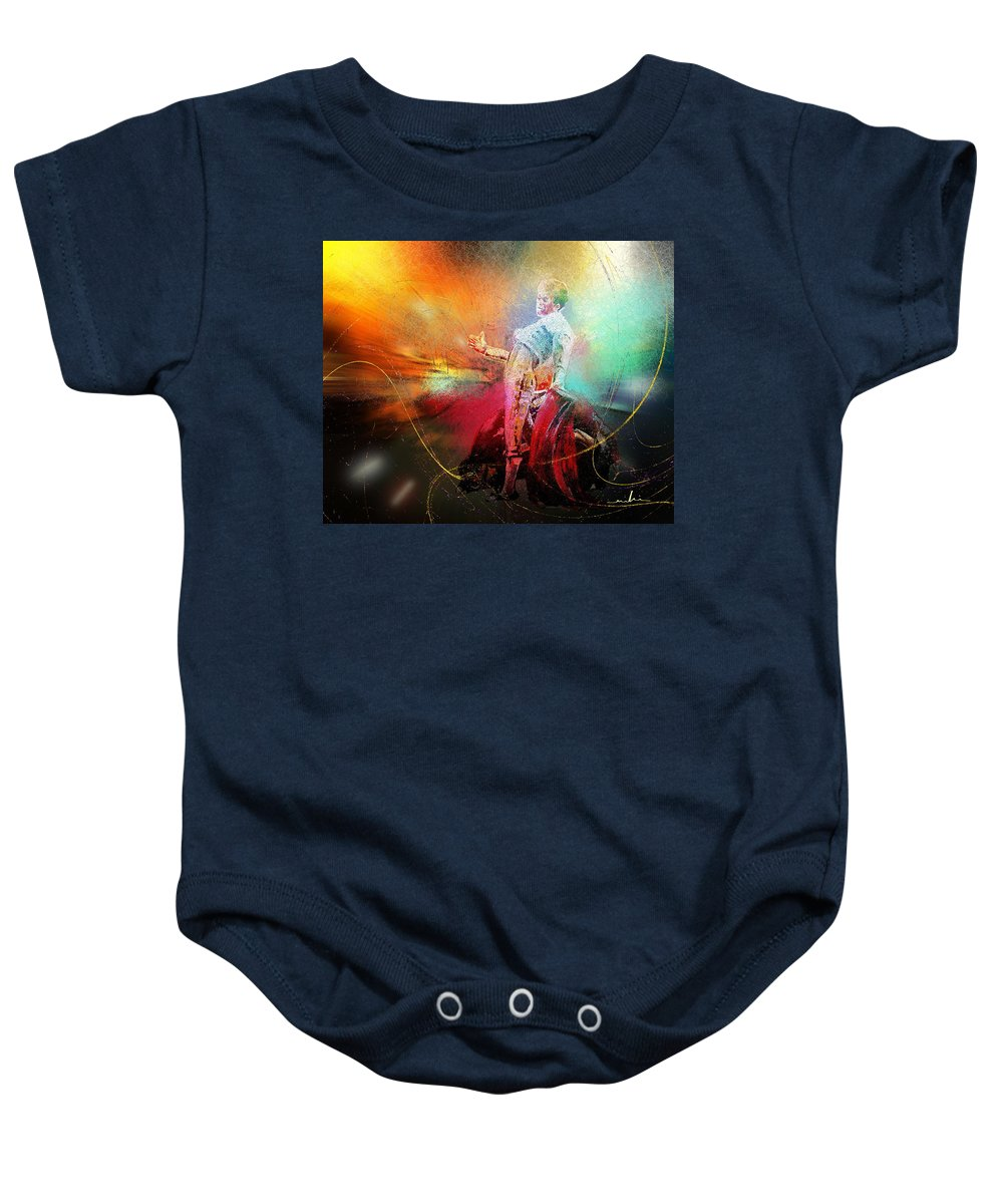 Animals Baby Onesie featuring the painting Toroscape 25 by Miki De Goodaboom