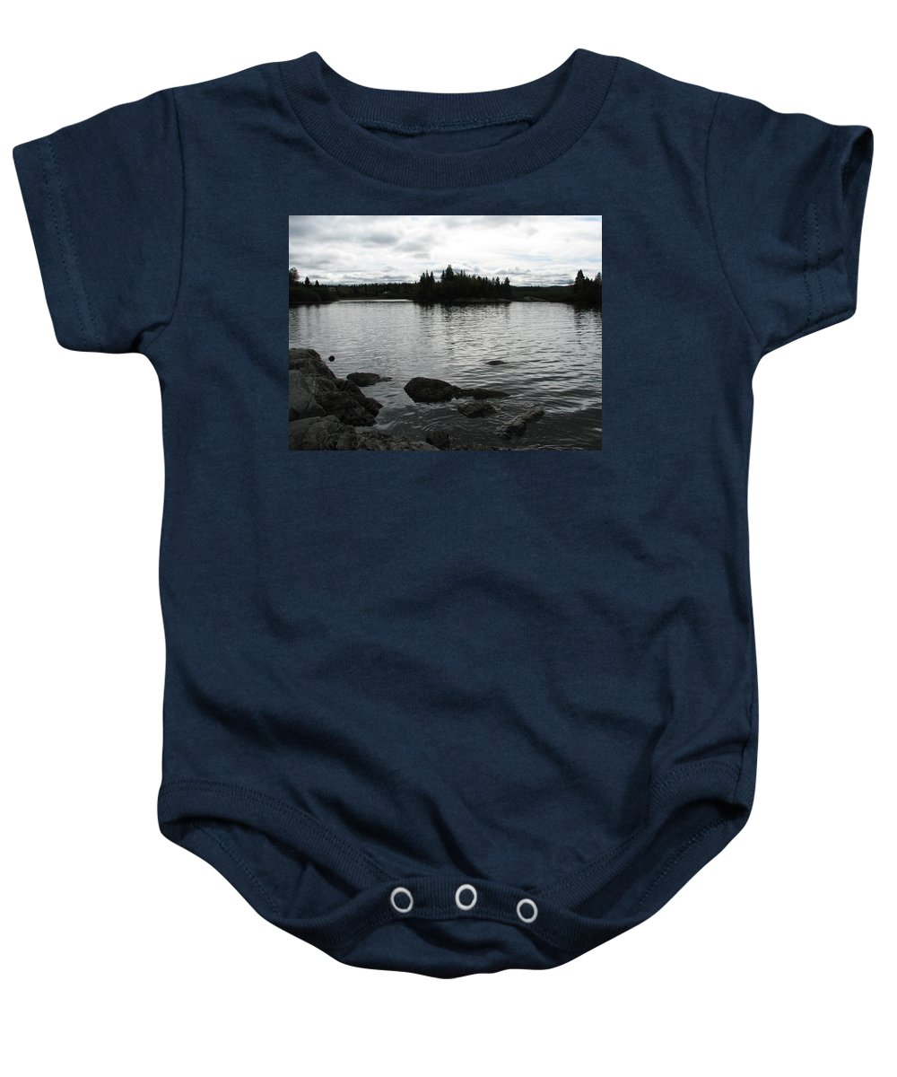 Water Baby Onesie featuring the photograph Tranquility by Kelly Mezzapelle