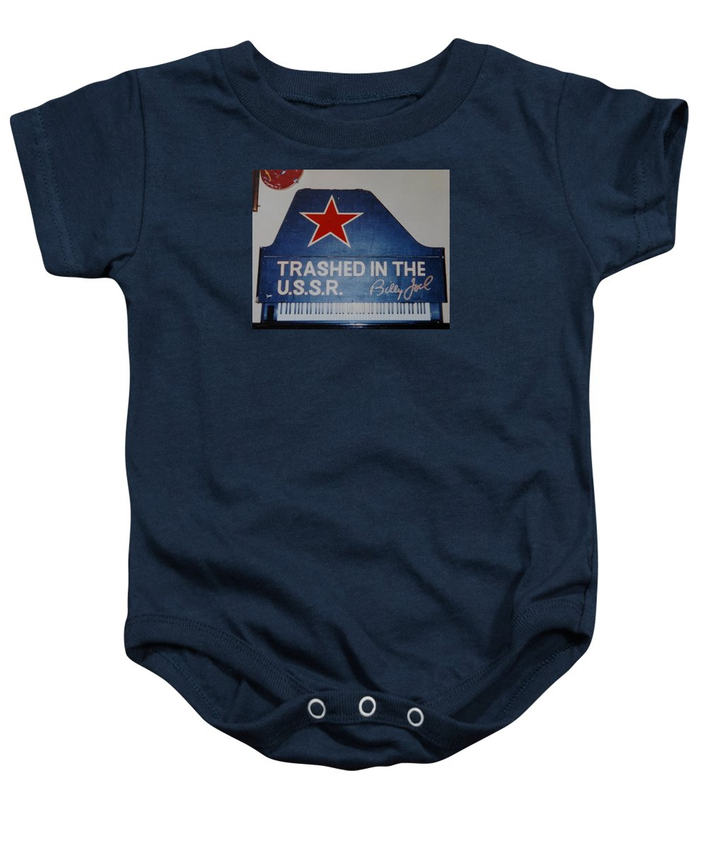 Billy Joel Baby Onesie featuring the photograph Trashed In The U S S R by Rob Hans